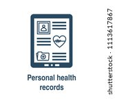 remote medical record access w...   Shutterstock .eps vector #1113617867
