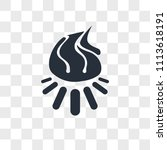 bonfire vector icon isolated on ... | Shutterstock .eps vector #1113618191