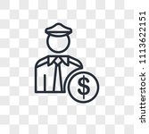 policeman vector icon isolated... | Shutterstock .eps vector #1113622151