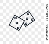 dices vector icon isolated on... | Shutterstock .eps vector #1113622901