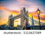 london uk 3.11 2017 tower... | Shutterstock . vector #1113627389