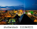 Stock photo las vegas august an aerial view of las vegas strip on august in las vegas nevada 111363221