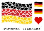 waving germany state flag.... | Shutterstock .eps vector #1113643355