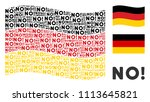 waving german official flag.... | Shutterstock .eps vector #1113645821
