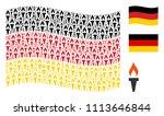 waving german state flag.... | Shutterstock .eps vector #1113646844