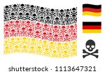 waving germany state flag.... | Shutterstock .eps vector #1113647321