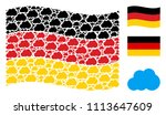 waving germany state flag.... | Shutterstock .eps vector #1113647609