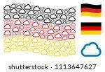 waving german official flag.... | Shutterstock .eps vector #1113647627