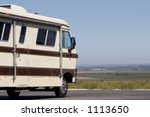 a giant recreational vehicle is ... | Shutterstock . vector #1113650