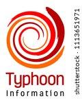 typhoon or hurricane disaster... | Shutterstock .eps vector #1113651971