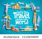 travel and tourism vector...   Shutterstock .eps vector #1113654005
