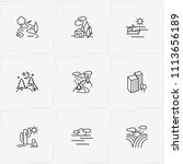 landscape line icon set with... | Shutterstock .eps vector #1113656189