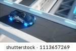 black futuristic electric car... | Shutterstock . vector #1113657269