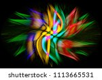 abstract twisted light fibers...   Shutterstock . vector #1113665531