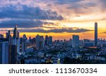 scenic view of sunrise... | Shutterstock . vector #1113670334
