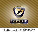 golden emblem or badge with...   Shutterstock .eps vector #1113686669