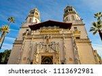 san simeon  ca usa   nov. 9 ... | Shutterstock . vector #1113692981