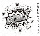 goal football sport  soccer... | Shutterstock .eps vector #1113703121