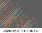 colorful diagonal strips... | Shutterstock .eps vector #1113703547