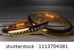 eternity  golden wedding rings...   Shutterstock . vector #1113704381