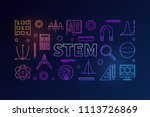 stem creative colored banner in ...   Shutterstock .eps vector #1113726869