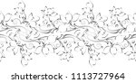 seamless black and white... | Shutterstock .eps vector #1113727964
