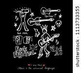 concert poster   sketchy music... | Shutterstock .eps vector #1113733355