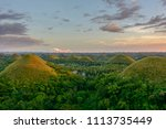 chocolate hills in the...   Shutterstock . vector #1113735449