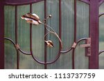 wrought iron gates  ornamental... | Shutterstock . vector #1113737759