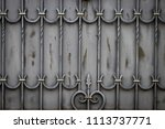 wrought iron gates  ornamental... | Shutterstock . vector #1113737771