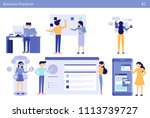 business people office concept... | Shutterstock .eps vector #1113739727