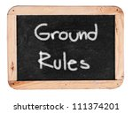 ground rule    white chalk... | Shutterstock . vector #111374201