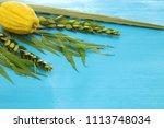 jewish festival of sukkot....   Shutterstock . vector #1113748034