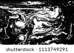 black and white liquid texture. ... | Shutterstock .eps vector #1113749291