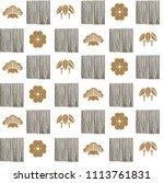 japanese pattern vector. line... | Shutterstock .eps vector #1113761831