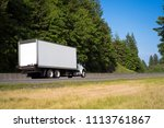 commercial big rig day cab... | Shutterstock . vector #1113761867