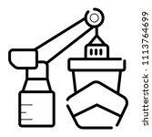 shipment vector icon port sea... | Shutterstock .eps vector #1113764699