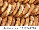 simit  sesamen  bread ring  a... | Shutterstock . vector #1113764714