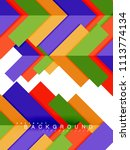 multicolored abstract geometric ... | Shutterstock .eps vector #1113774134