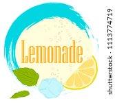 pattern lemonade  carbonated... | Shutterstock .eps vector #1113774719