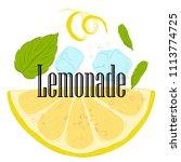 pattern lemonade  carbonated... | Shutterstock .eps vector #1113774725