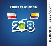 poland vs colombia flags soccer ...   Shutterstock .eps vector #1113777047