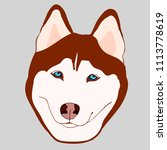 illustration of brown husky... | Shutterstock .eps vector #1113778619