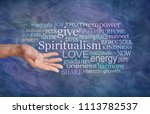 the meaning of spiritualism... | Shutterstock . vector #1113782537