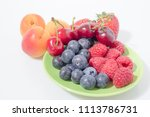fruit composition  blueberries  ... | Shutterstock . vector #1113786731