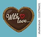 vector icon chocolate cookies... | Shutterstock .eps vector #1113796631