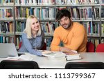 students preparing exam and... | Shutterstock . vector #1113799367