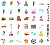 manager icons set. cartoon... | Shutterstock . vector #1113809171