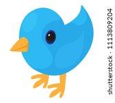 bird icon. isometric...