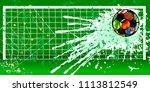 soccer ball or football grungy... | Shutterstock .eps vector #1113812549